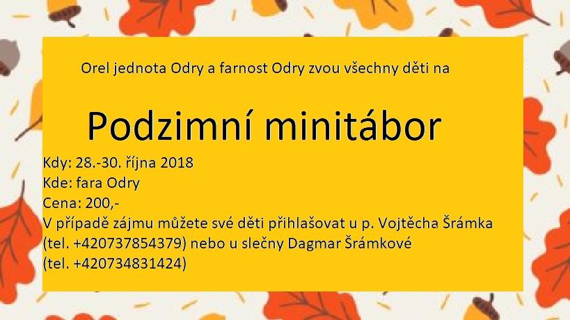 Plakátek minitábor 2018